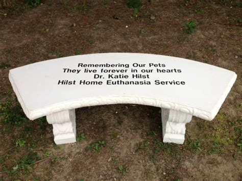 pet memorial benches remembering our pets event at dchs pet euthanasia a