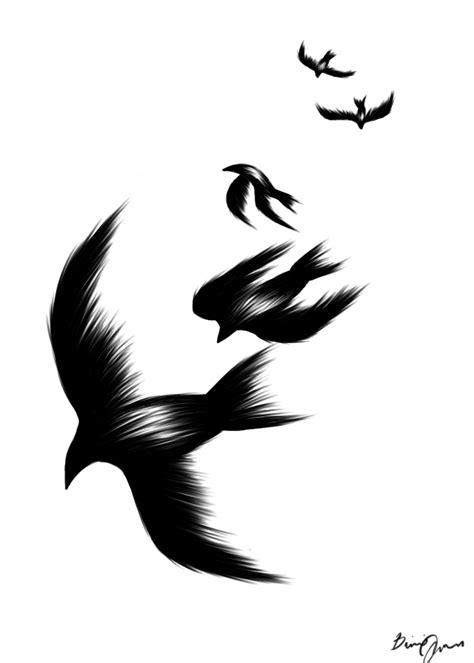 black birds by ritsuyamashita on deviantart