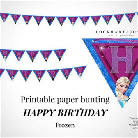 Banner Hbd Frozen Banner Ultah Frozen Bunting Flag Frozen Dekorasi best happy birthday banner products on wanelo