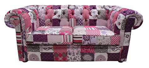 small patchwork sofa chesterfield patchwork fiesta 2 seater settee fabric sofa