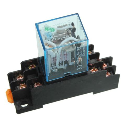 Relay Dc 12v 5a 8 Pin Jqx 4453 18f 10 set coil power relay ly2nj 12v dc dpdt 8 pin hh62p jqx 13f with socket base alex nld