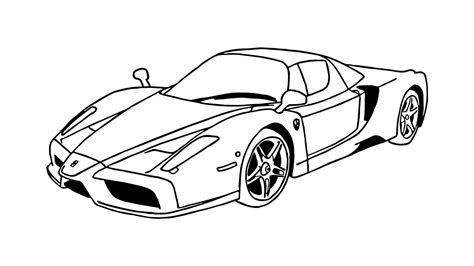 ferrari enzo sketch how to draw a ferrari enzo car youtube
