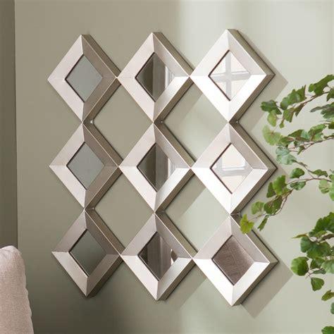 modern decorative wall mirrors freeiam harper blvd diamante mirrored squares wall sculpture