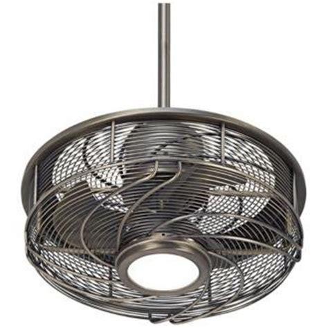 ceiling fan with cage casa vestige cage led ceiling fan 17 quot antique bronze