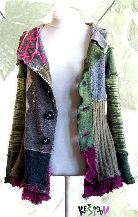 diy projects clothes diy patchwork upcycled jacket altered wearable