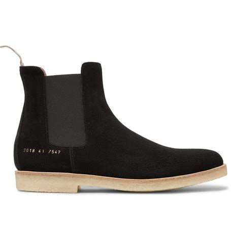 by common projects boots common projects suede chelsea boots in washed black modesens
