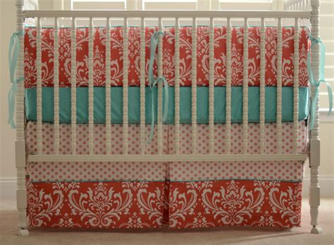 mint and coral crib bedding coral and mint crib bedding bedroom ideas and