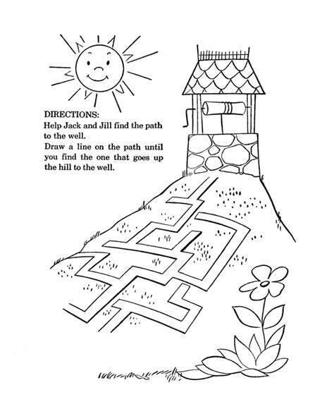 bluebonkers nursery rhymes coloring page sheets jack