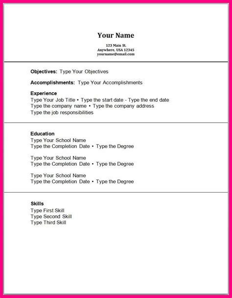 resume templates for students with no work experience 6 sle cv for students with no work experience
