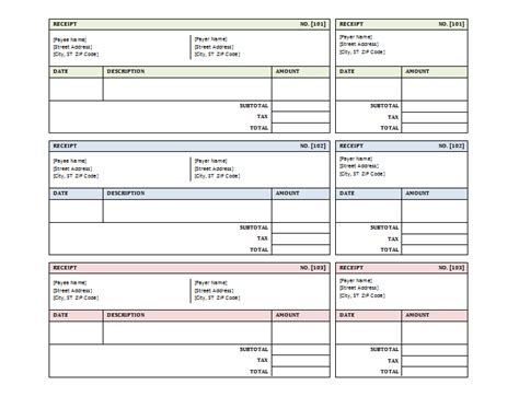 Free Receipt Template Excel by Doc 600600 A Free Receipt Template For