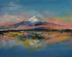 painting montana mount fuji print by michael creese society6