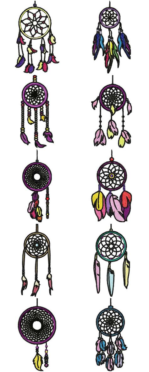 design of dream catcher 10 set dream catcher machine embroidery designs