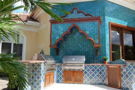 tile murals in small spaces mediterranean kitchen photos hgtv