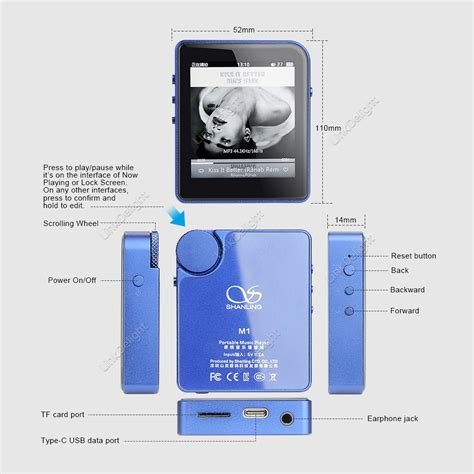 Leather For Shanling M1 shanling m1 dsd hifi lossless mini mp3 player with