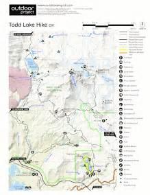 oregon hiking trail maps todd lake hike hiking in oregon
