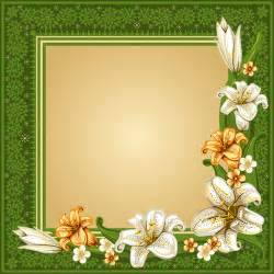 beautiful flower with retro frame vector material 04