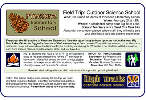 field trip announcement template analysis of flyers 171 400