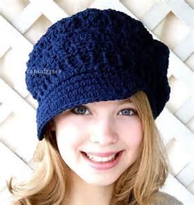 Crochet hat pattern teens newsgirl newsboy slouchy hat pdf 160 12