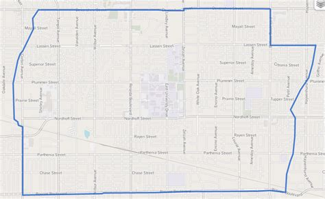 northridge california map file map of northridge neighborhood los angeles