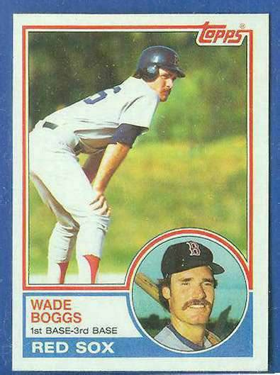 rookie card template 1983 topps 498 wade boggs rookie of famer sox