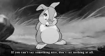 And white disney disney gif bambi bunny rabbit thumper disney quotes