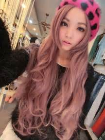 asian with colored japanese pink hair dye hair hats