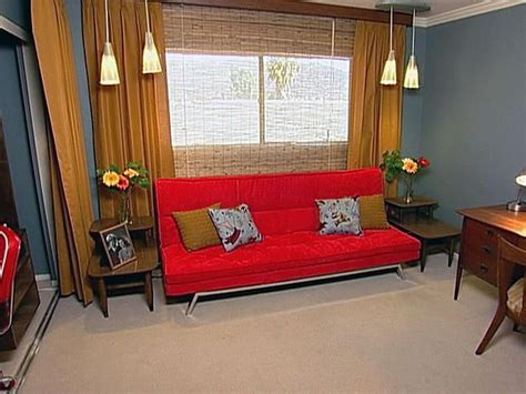 modern guest bedroom shadowbend: guest rooms midcentury modern and futons on pinterest