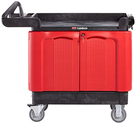rubbermaid trademaster cart with cabinet rubbermaid commercial products fg451288bla trademaster