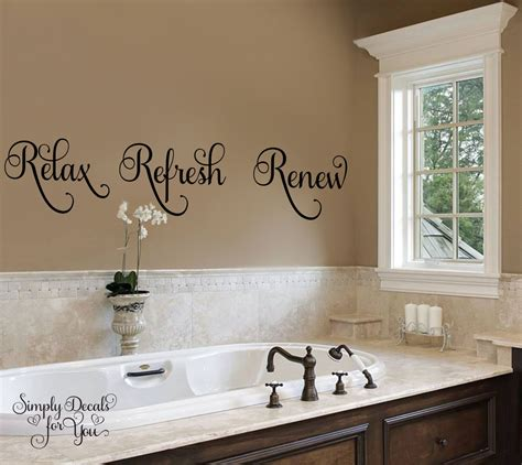 stickers for bathroom walls relax refresh renew bathroom wall decal bathroom decal wall decal wall sticker