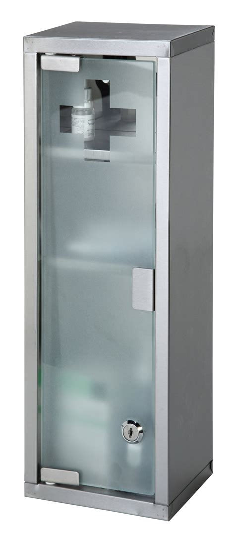 Glass Door Medicine Cabinet Large Wall Mountable Medicine Cabinet Cupboard Aid Lockable Glass Door New Ebay