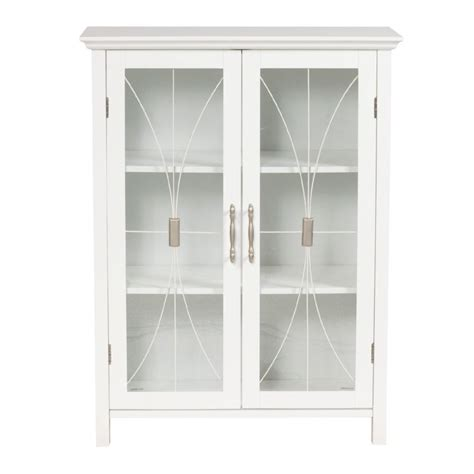 Small White Cabinet With Glass Doors Furniture Rectangle White Wooden Small Cabinets With Clear Glass Doors And Curvy Steel