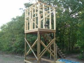 deer shooting house plans elevated stand plans blinds