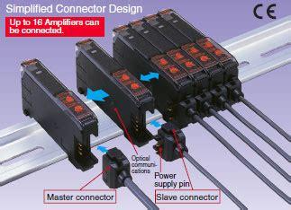 Photo Fiber Sensor E3x Zd11 Omron Original e3x da n digital fiber lifier features omron industrial automation