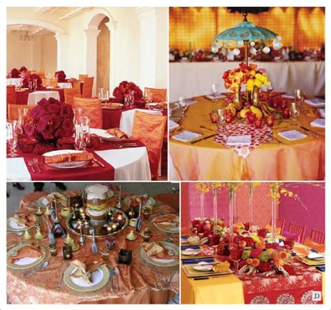 Decoration Orientale Pour Table mariage theme idees deco