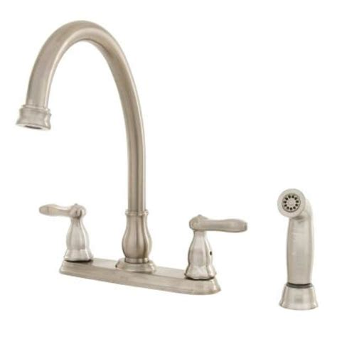 delta orleans 2 handle kitchen faucet in stainless steel discontinued 2457 ss the home depot