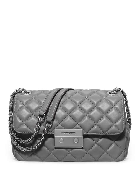 michael michael kors sloan large quilted leather chain
