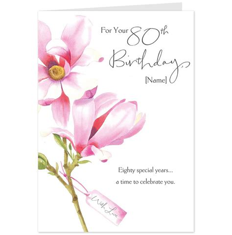 80th Birthday Card Hallmark Cards Greetings Cards And Gifts