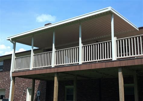 Metal Awnings For Decks by Aluminum Awnings Residential Deck Covers Nc Sc