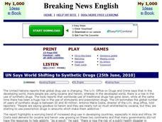breaking news english english news readings level 5 breaking news english un says world shifting to synthetic