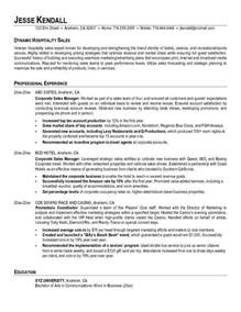 Resume Format For Hospitality Industry by Sle Resume For Hospitality Industry Experience Resumes