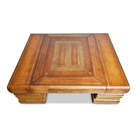 Maitland Smith Book Coffee Table Maitland Smith Oversized Embossed Leather Books Coffee Table At 1stdibs