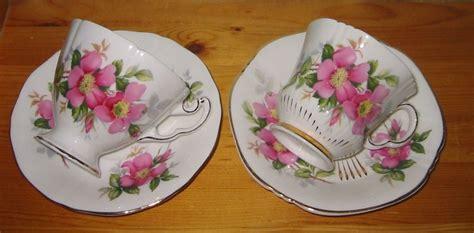 royal adderley prairie rose teacup sets shabby chic