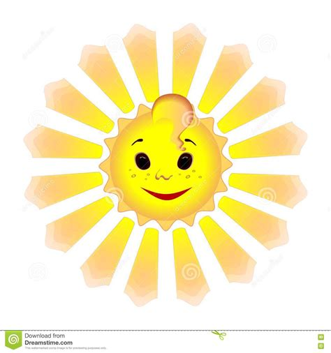 bright as day l smiling sun with animated rays stock photo image 79509080