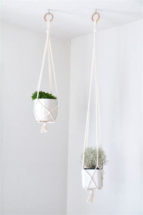 Simple Macrame - diy macrame plant holders a chic way to hang indoor plants