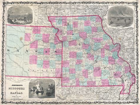 map kansas missouri border