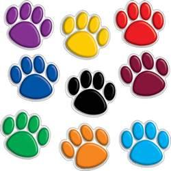 Ez Cabinets Colorful Paw Prints Mini Accents