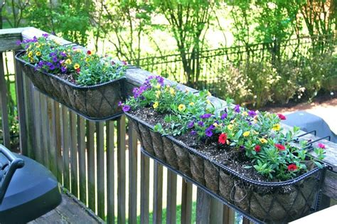 patio railing planters 17 best images about deck on deck stain colors stains and deck staining