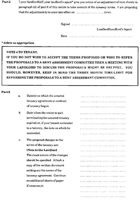 section 48 housing act the assured tenancies forms scotland regulations 1988
