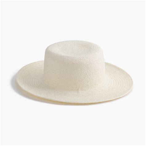j crew raffia straw hat in white lyst