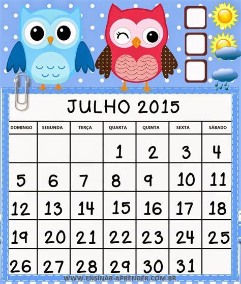 Calendario P A N 2015 Not 237 Cias Ponto Calend 193 2015 Corujinhas Colorido